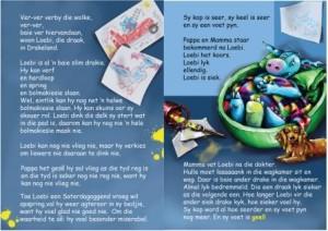 'n Voorbeeld bladsy uit 'n Loebi blouboek vir die 4-5 jarige ouderdomsgroep