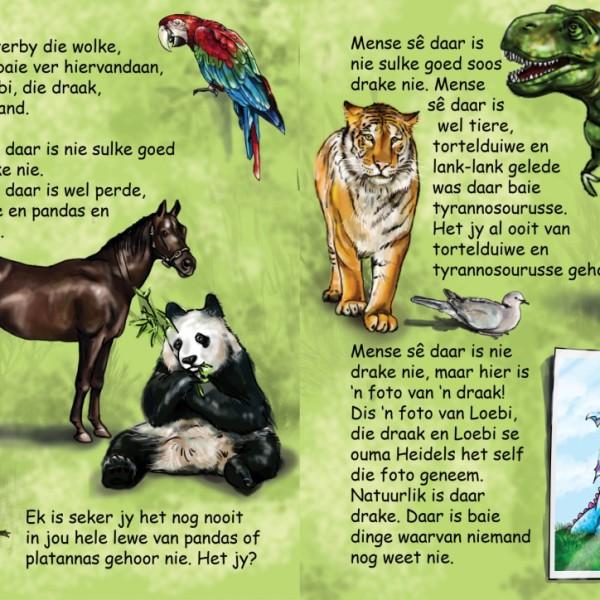 'n Voorbeeldbladsy uit 'n Loebi groenboek vir die 3-4 jarige ouderdomsgroep